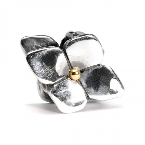 Trollbeads Climbing Hydrangea Silver and 18ct Gold Pendant TAGPE-00029