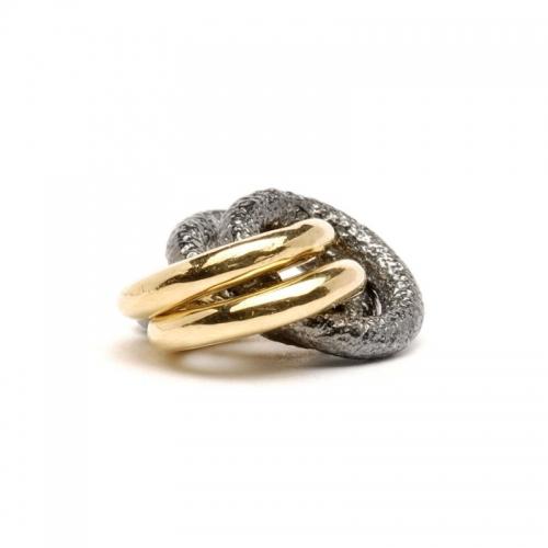 Trollbeads 2+2 Silver & 18ct Gold Bead 41810