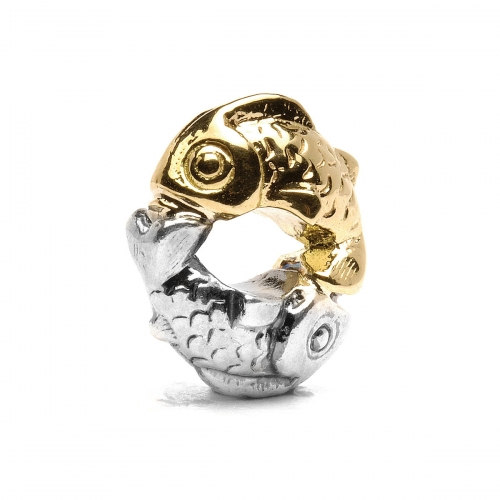 Trollbeads Happy Fish Silver & 18ct Gold Bead TAGBE-00112