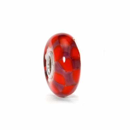Trollbeads Red/Purple Chess Silver & Glass Bead 61369 (RETIRED)