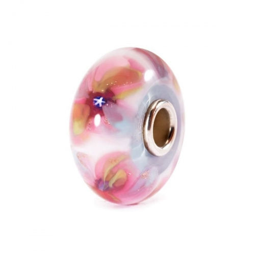 Trollbeads Fantasy Flowers Silver & Glass Bead 61373