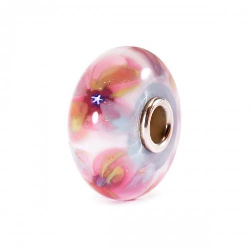 Trollbeads Fantasy Flowers Silver & Glass Bead TGLBE-10244