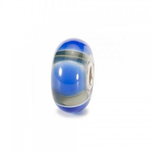 Trollbeads Blue Symmetry Silver & Glass Bead 61411 (RETIRED)