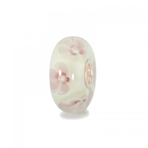 Trollbeads Pastel Flowers Silver & Glass Bead 61424