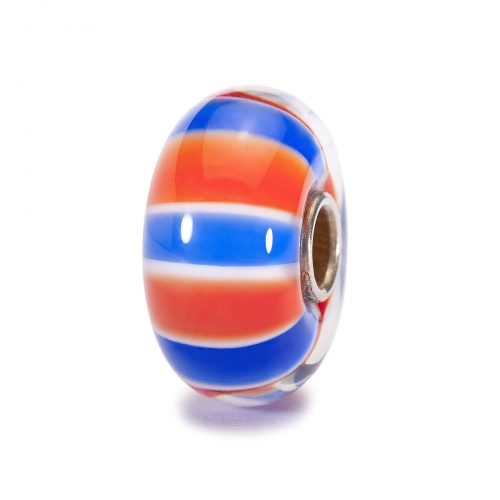 Trollbeads UK Colours Silver & Glass Bead UK61105 - Trollbeads World Tour UK