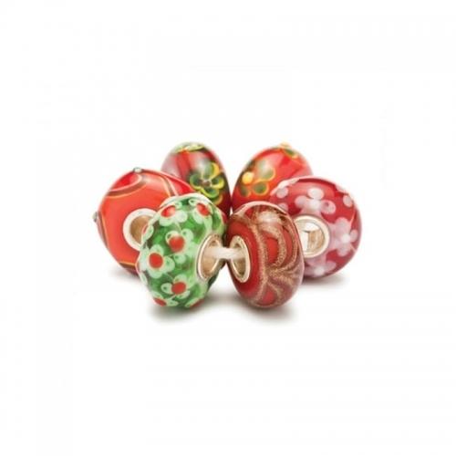 Trollbeads Red Christmas Glass Kit 64607 (RETIRED)