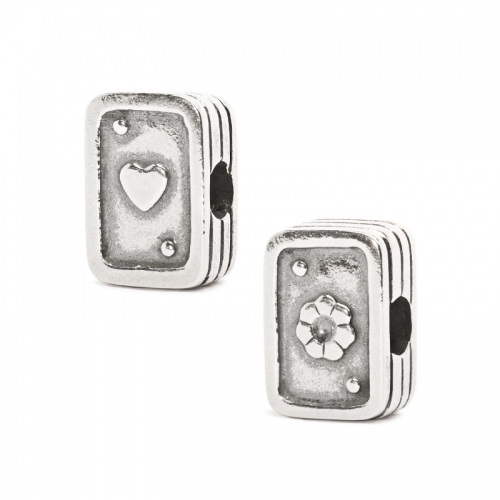 Trollbeads Playing Cards Silver Bead 11528