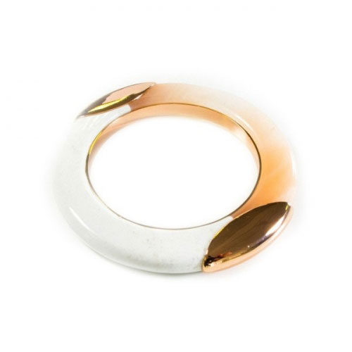 Lola Rose White and Rose Gold Rodeo Bangle