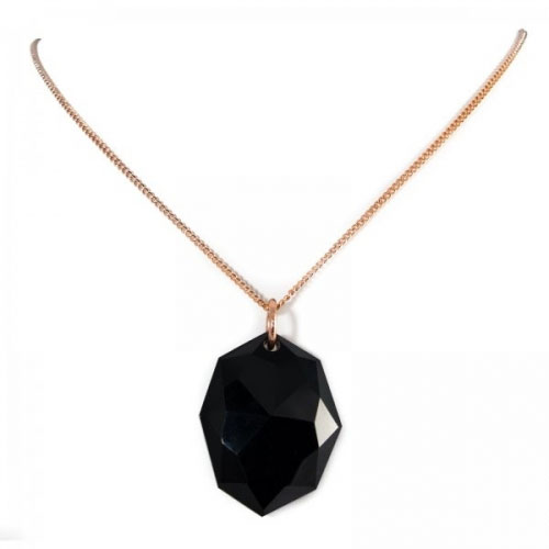 Lola Rose Black Agate Coralie Necklace