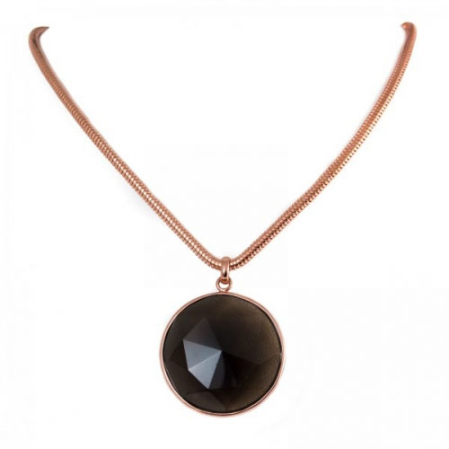 Lola Rose Smokey Obsidian Lillia Necklace
