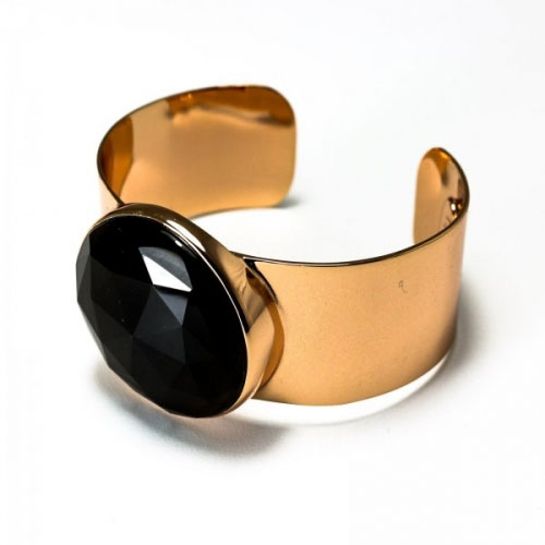 Lola Rose Smokey Obsidian Burton Bangle