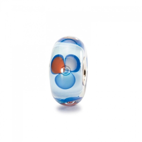 Trollbeads Fantasy Blue Silver & Glass Bead 61466