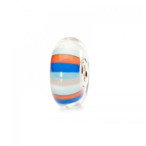 Trollbeads Beach Ball White and Multicolour Silver & Glass Bead 61462