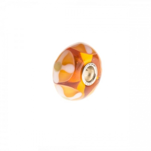 Trollbeads Orange Unique Silver & Glass Bead