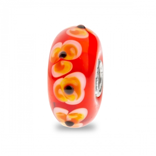 Trollbeads Red Unique Silver & Glass Bead