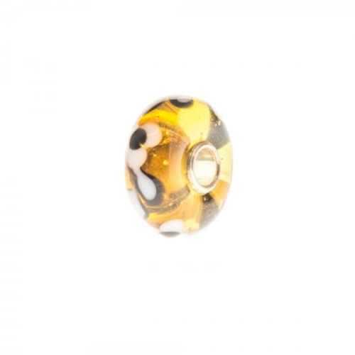 Trollbeads Yellow Unique Silver & Glass Bead