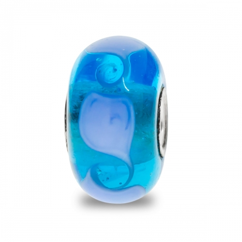 Trollbeads Blue Unique Silver & Glass Bead