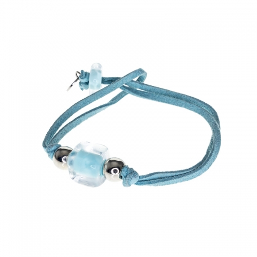 Antica Murrina Pastel Blue Deco Bracelet