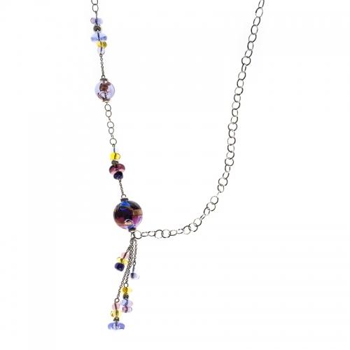 Antica Murrina Duna Long Purple Necklace