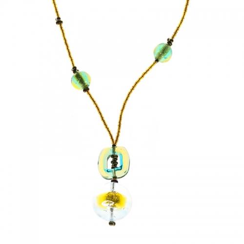 Antica Murrina Symmetry Green Necklace
