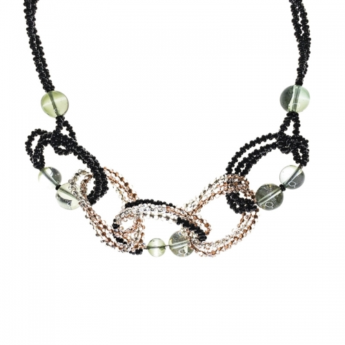 Antica Murrina India Divinity Black and Grey Necklace