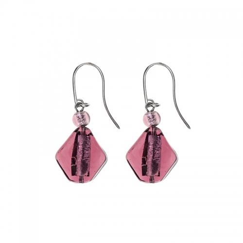 Antica Murrina Fusion Purple Earrings