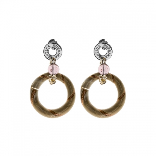 Antica Murrina Bolero Beige Earrings