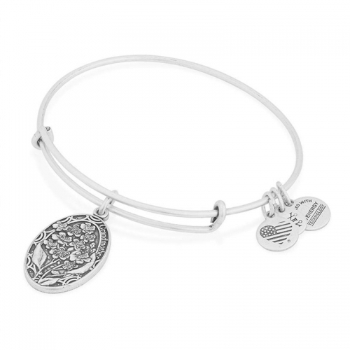 Alex and Ani Grandmother Charm Silver Bangle A16EB12RS