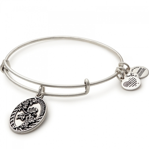 Alex and Ani Granddaughter Charm Silver Bangle A16EB63RS