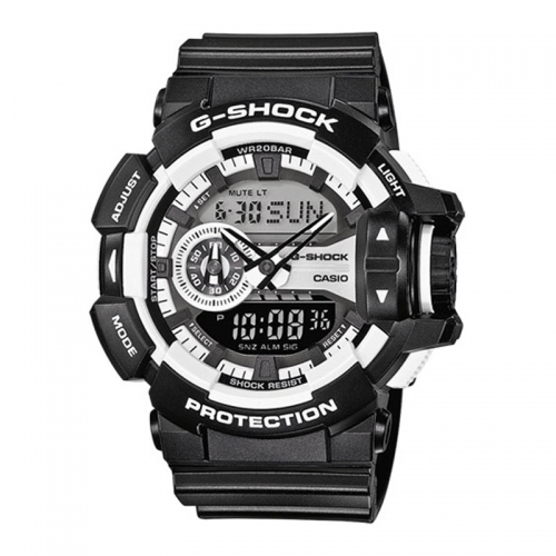 Casio G-Shock Men's Black Alarm Chronograph Watch GA-400-1AER