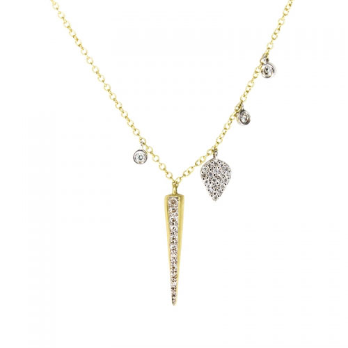 Meira T Charmed Diamond Spike Pendant Necklace