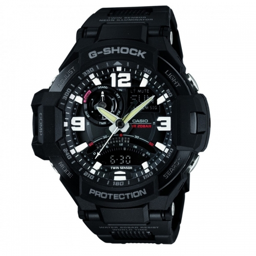 Casio G-Shock Premium Sky Cockpit Men's Black Alarm Chronograph Watch GA-1000FC-1AER