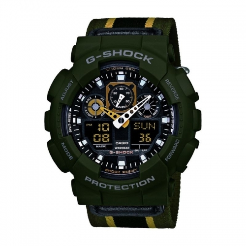 Casio G-Shock Green Canvas Chronograph Watch