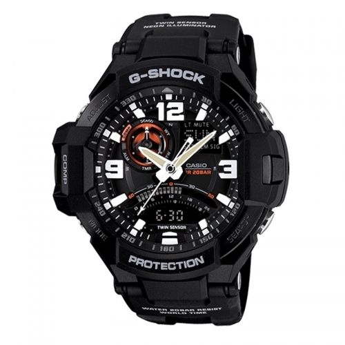 Casio G-Shock Sky Cockpit Men's Black Alarm Chronograph Watch GA-1000-1AER