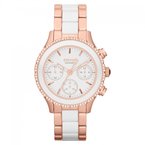 DKNY Chambers Ladies Ceramic Chronograph Watch NY8825