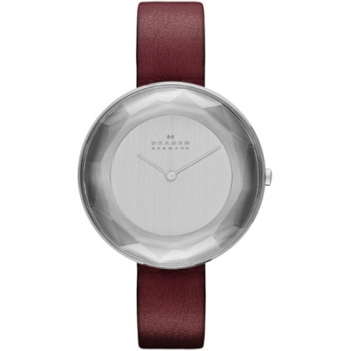 Skagen Gitte Refined Ladies Silver & Red Watch SKW2273