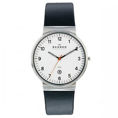 Skagen Ancher Relaxed Men's Silver & Black Watch SKW6024