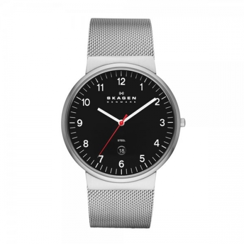 Skagen Ancher Relaxed Men's Black & Silver Watch SKW6051