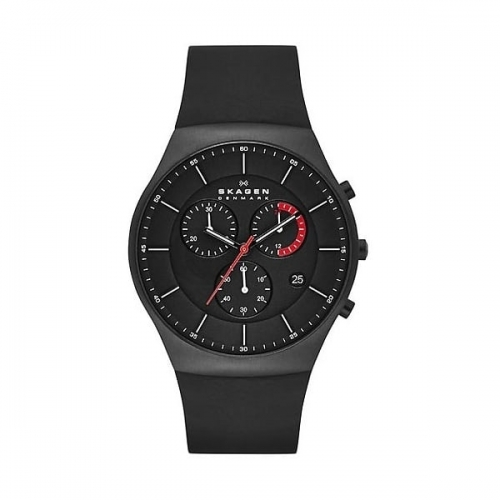 Skagen Balder Men's Black Chronograph Watch SKW6075