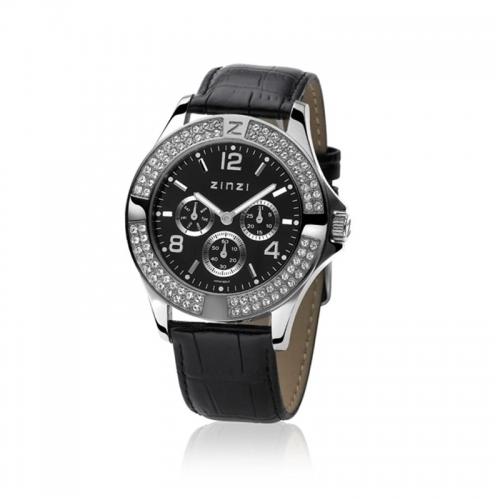Zinzi Ladies' Black Chronograph Watch