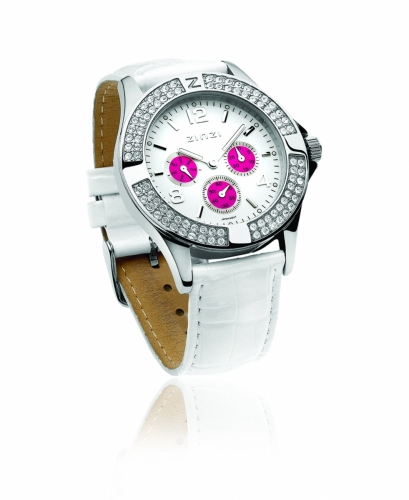 Zinzi Ladies' White Chronograph Watch