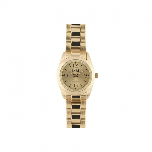 Ikki Small Gold Steel Boyfriend Style Watch
