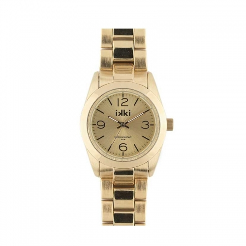 Ikki Medium Gold Steel Boyfriend Style Watch