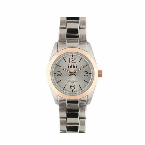 Ikki Medium Silver and Rose Gold Boyfriend Style Watch