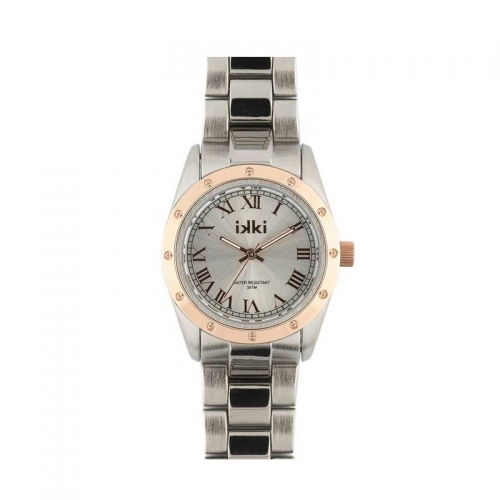 Ikki Medium Silver and Rose Gold Watch