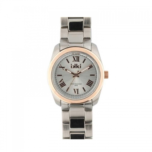 Ikki Silver and Rose Boyfriend Style Watch