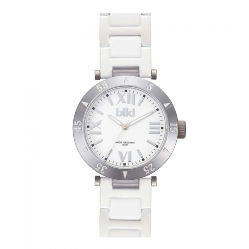 Ikki Silver and White Bracelet Watch