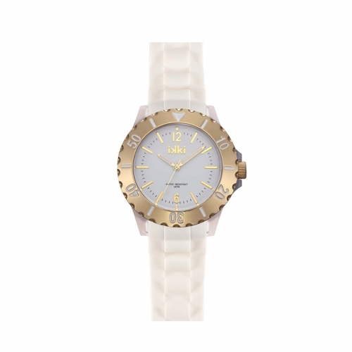Ikki White and Gold Sports Watch