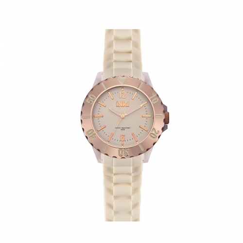 Ikki White and Rose Gold Sports Watch