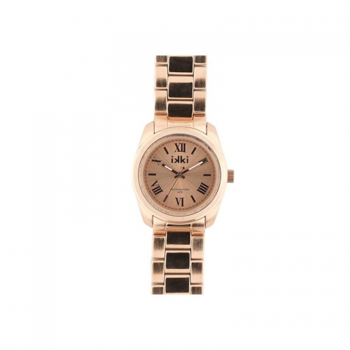 Ikki Medium Rose Gold Steel Boyfriend Style Watch